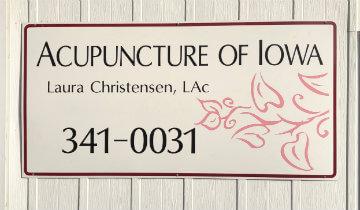 Acupuncture of Iowa Iowa City Laura Christensen outdoor sign